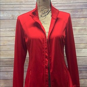Red Danskin workout jacket